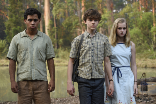 Aaron McGrath (Jasper), Levi Miller (Charlie) and Angourie Rice (Eliza) in Jasper Jones. Photographer: David Dare Parker © Bucktin Productions Pty Ltd.