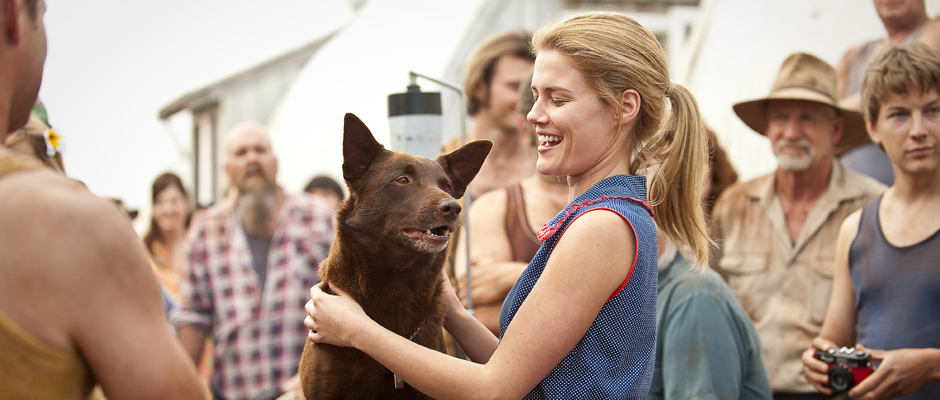 Koko as RED DOG and Rachael Taylor as NANCY on the set of RED DOG.