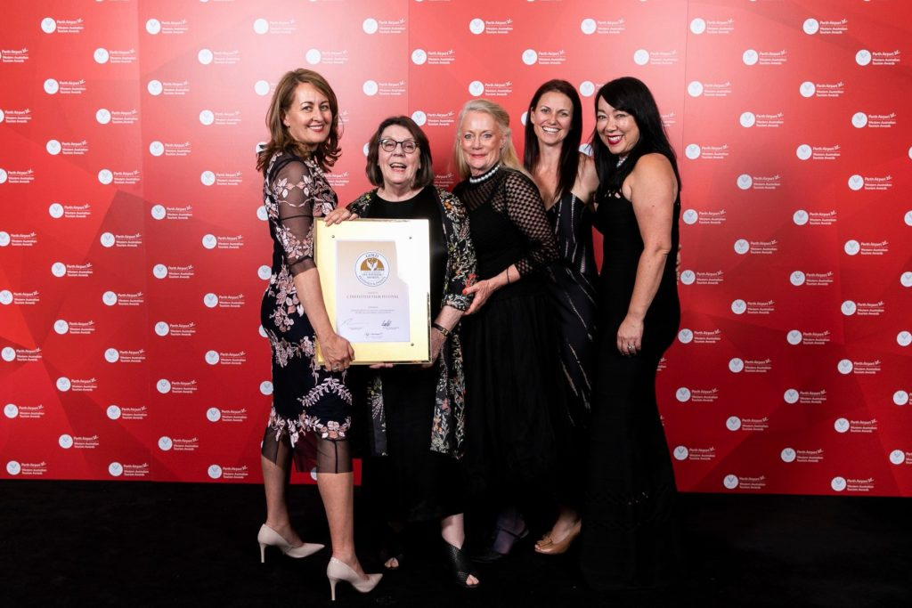The CinefestOZ Team at the 2019 Western Australian Tourism Awards