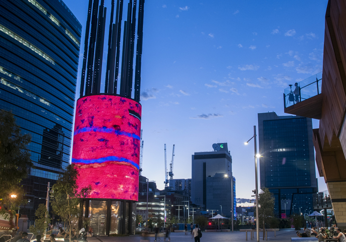 Screenwest Lights Up Yagan Square Digital Tower Screenwest