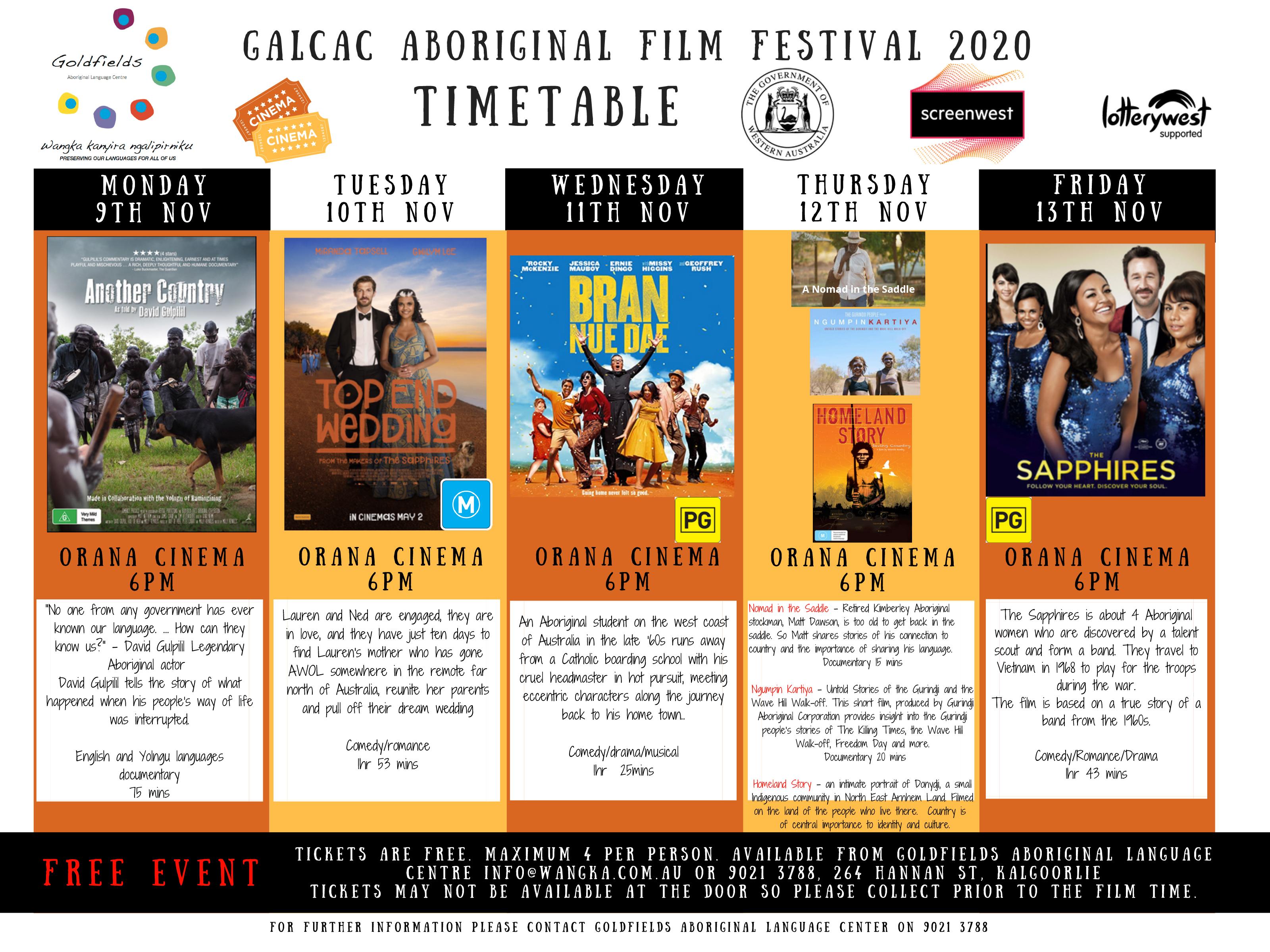 Nintila Aboriginal Film Festival Program. Click to download PDF.