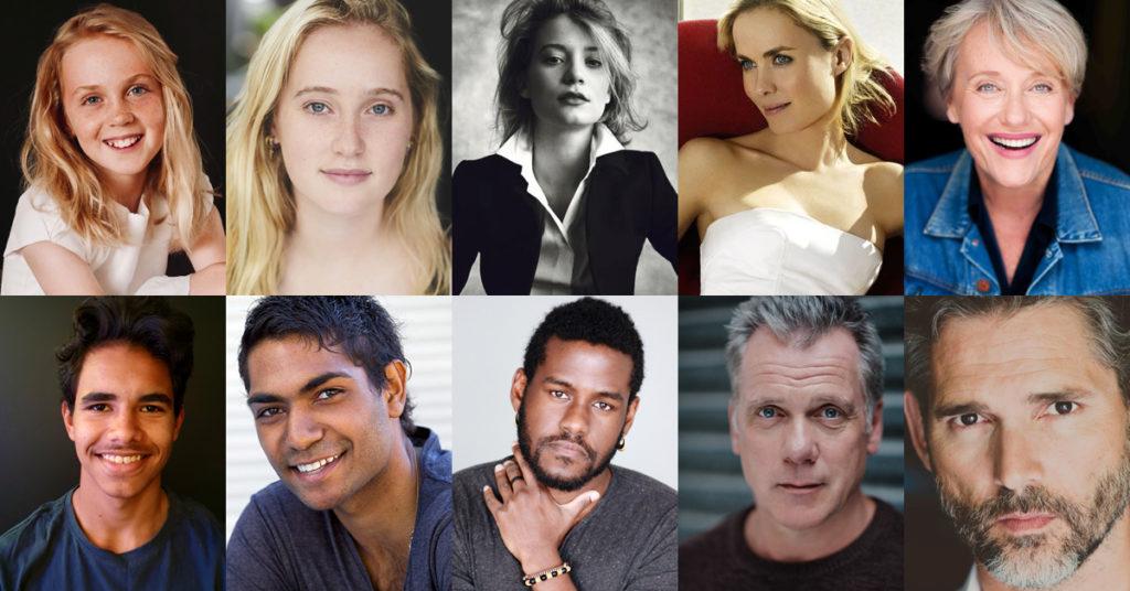 Photos of Ariel Donoghue (YOUNG ABBY), Ilsa Fogg (TEEN ABBY), Mia Wasikowska (ABBY), Radha Mitchell (DORA), Liz Alexander (OLDER DORA), Pedrea Jackson (TEEN BRIGGS), Clarence Ryan (BRIGGS), Albert Mwangi (GITUNDU), Erik Thomson (COSTELLO), Eric Bana (MAD MACKA)