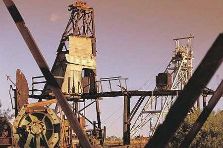 Poppet heads and industrial equipment in the outback