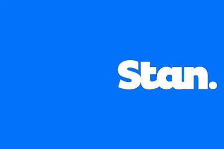 Stan logo on blue background