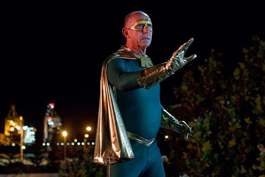 Peter Rowsthorn as 'Mr Rocket' wearing a superhero costume