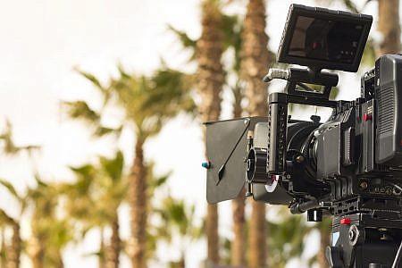 Film camera shooting outside